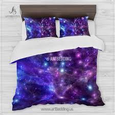 Galaxy Bed Set Galaxy Bedding Set Space Duvet Cover Set Space Nebula