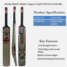 adidas master blaster league english willow cricket bat standard