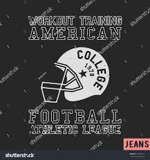 Football Flag Printing Tshirt Print Design American Football Vintage Stock Vector