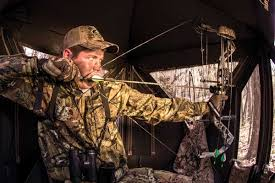 Bow Hunting From A Ground Blind Surefire Tips For Hunting Pop Up Blinds Effectively North