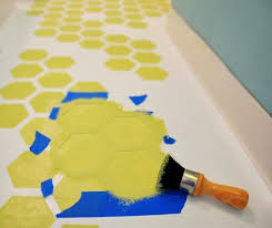 how to repaint u0026 stencil ugly rental vinyl tile flooring vinyls