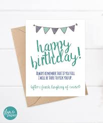 funny birthday card funny brother card greeting card