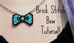 bow necklace diy images Diy beaded bow necklace how to the corner of craft jpg
