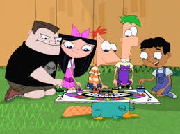 Phineas And Ferb Backyard Beach Game Image Spinning Tops Board Game Cropped Png Phineas And Ferb
