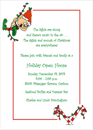 Open House Invitations Christmas Open House Invitation Elf Antics