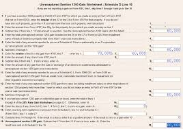 schedule d tax worksheet free worksheets library download and