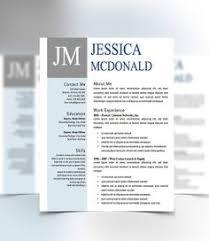 resume cover letter design template microsoft word editable