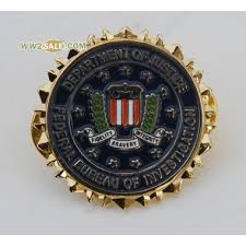 us bureau of justice us department of justice federal bureau of invertigation lapel badge