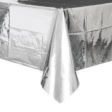 foil silver plastic tablecloth silver decorations