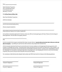 9 rental termination letter templates free sample example