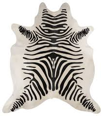 Cream And Black Rugs Beautiful Black And Cream Brazilian Zebra Striped Hair On Cowhide