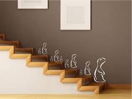 wandtatoo flur wandtattoo familie mit 10 erdmännchen treppe flur wohnzimmer m16