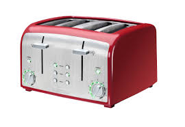 4slice Toasters Kenmore 135401rd Red And Stainless Steel 4 Slice Toaster