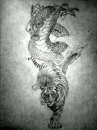 a tattoo idea i got from all the dragon vs tiger designs i have
