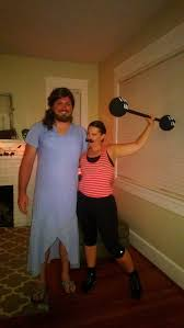 Bearded Halloween Costume Circus Freaks Bearded Lady Strongman Awesome Couples