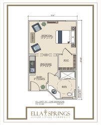assisted living floor plans ella springs senior living community