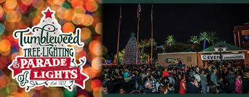 When Is The Parade Of Lights Tumbleweed Tree Lighting Ceremony