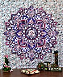 Bedroom Tapestry Indian Wall Bedroom by Large Hippie Tapestry Mandala Bohemian Bedspread Throw Wall Beach