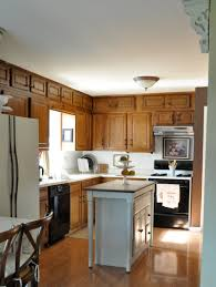 fascinating two tone kitchen cabinets with white and oak tone in