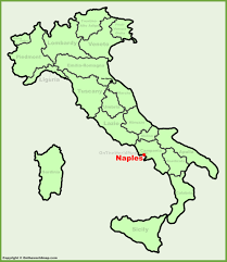 Map Of Naples Italy by Naples Location On The Italy Map