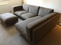 ikea nockeby l shape corner sofa with large footstool 6 months