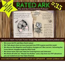 Ark Blueprint List Episode 35 Of Rated Ark The Ark Survival Evolved Podcast
