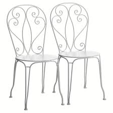 chaises en fer forg chaise jardin fer forge blanc cuisine chaise bistrot en fer forge