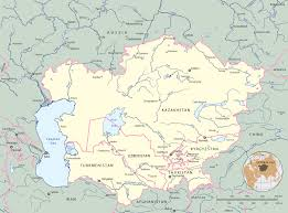 Russia And Central Asia Map by Map Of Central Asia