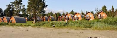 arched cabins tofino cabins ocean village resort