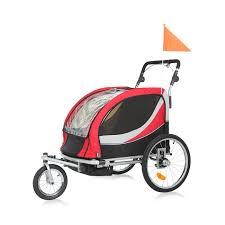 si e bebe velo samax premium 360 rotatif remorque vélo convertible jogger 2en1