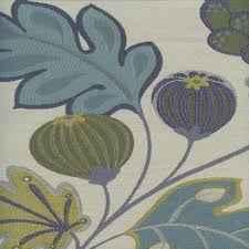 Bulk Upholstery Fabric Eden Seaglass Blue Green Floral And Fruit Upholstery Fabric
