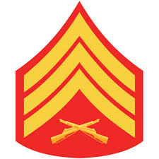 sgt red and gold rank insignia 2 1 2