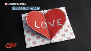 diy love heart greeting card how to make valentine u0027s day