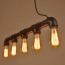 pipe pendant lights industrial lightings 5 arms lights home bar