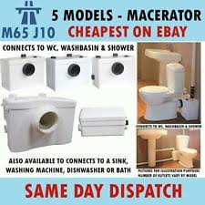 Bathroom Pump Toilet Waste Pump Ebay