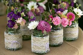 jar wedding centerpieces lace jar wedding decor centerpieces