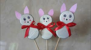 diy bottle cap bunnies easy crafts use for kids birthday
