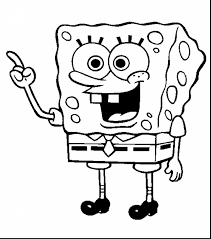 unbelievable spongebob soccer coloring pages with spongebob