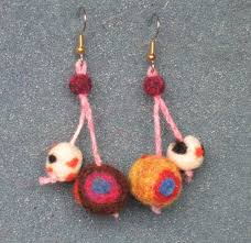 felt earrings needle felted earrings free simple project by yiling tien