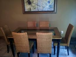 Pier One Bistro Table And Chairs Chairs French Bistro Chairs Made From Rattan With Wood Patern