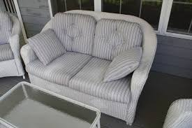 furniture durable wicker loveseat for indoor and outdoor
