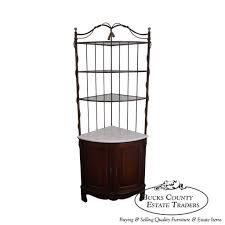 furniture fantastic corner bakers rack with glass shelves and