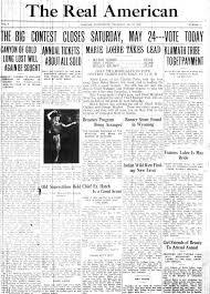 Newspaper Wedding Program The Real American