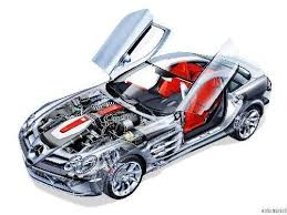 Si鑒e Auto Soldes - mercedes slr mclaren cutaway poster metal sign wall 8in x