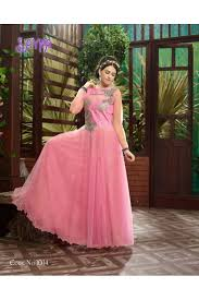 party wear gowns fancy baby pink soft net party wear gown 1014 sdf sayna