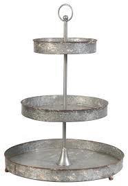 galvanized cake stand 3 tier galvanized metal tray industrial dessert and cake