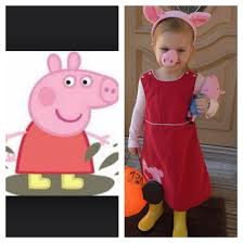 peppa pig costume red jumper dress pink leotard pink tights
