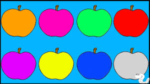 apple coloring page learn colors for children toddlers and babies with apple coloring