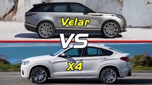 2018 range rover velar vs bmw x4 youtube