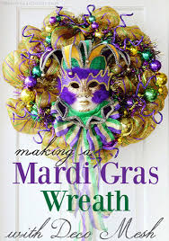 mardi gras outlet deco mesh party ideas by mardi gras outlet a mardi gras wreath with